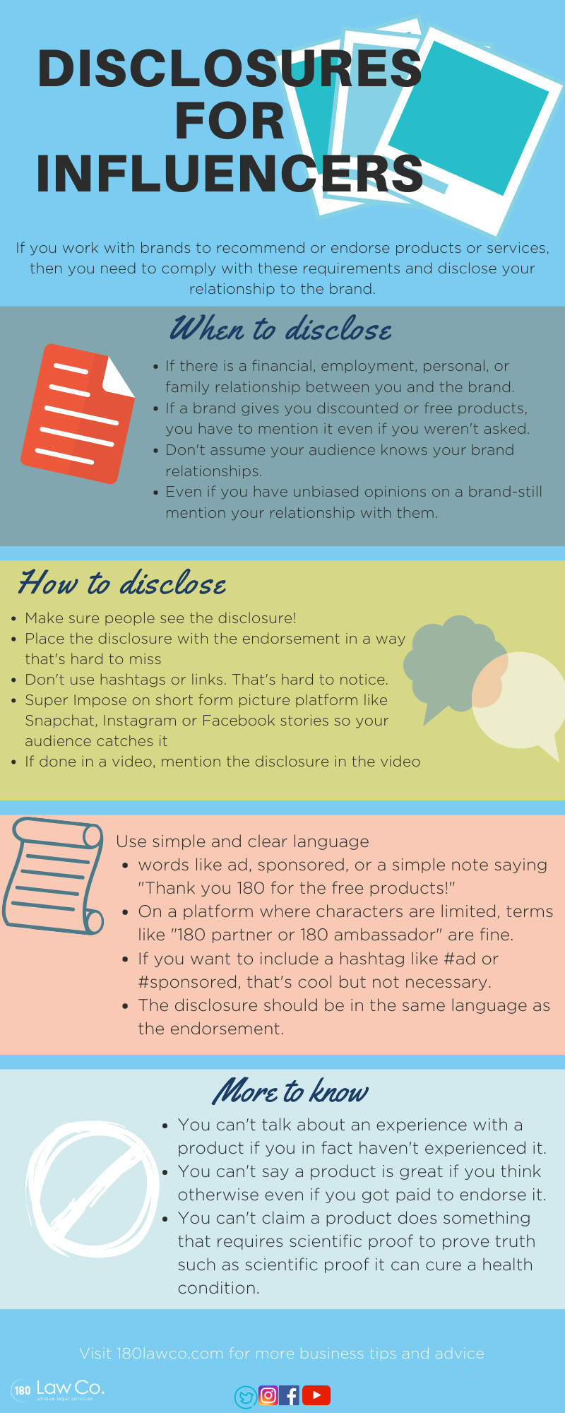 FTC Disclosures for Influencers guide and infographic